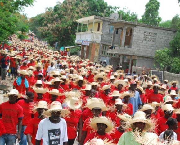 Haitian farmers marched against Monsanto in 2010, while refusing genetically engineered seeds the company  tried donate to the earthquake relief efforts.