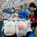 Walmart Grocery Checkout Line in Gladstone, Missouri. Photo courtesy of the Walmart Corporate Flickr account.
