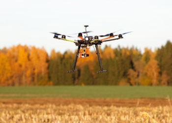 drone on farm