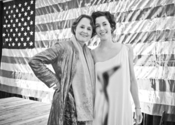 Sarah Weiner with Alice Waters at the Good Food Awards ceremony. Photo by Lisa Scott Owen.