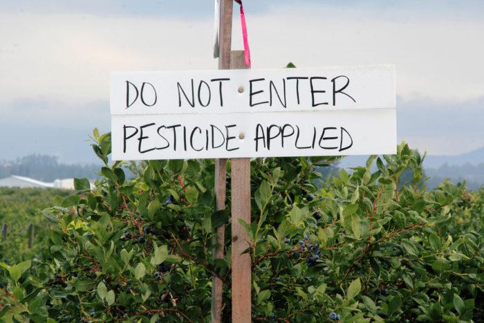 pesticide sign