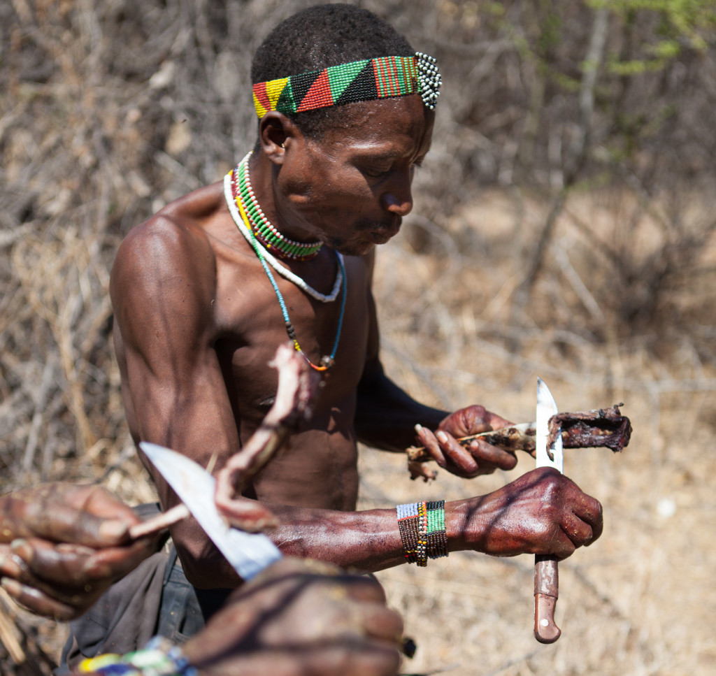 05 Hadza eating meat