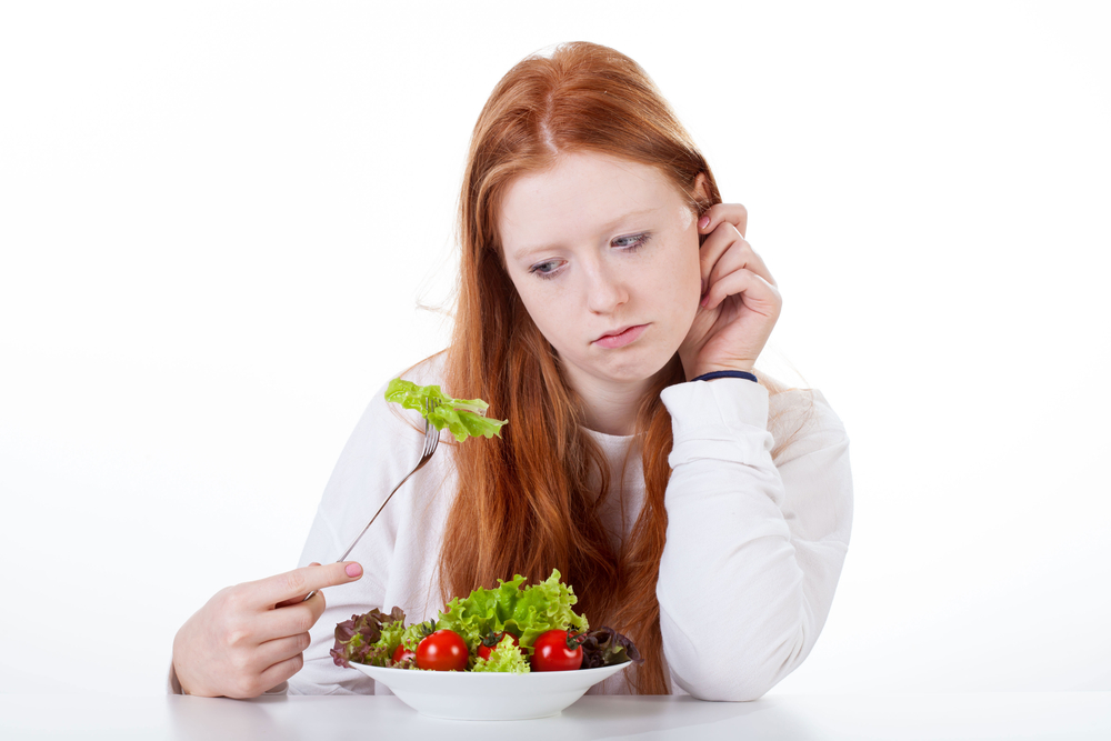woman with no appetite