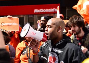 fightfor15 activists Mcdonalds