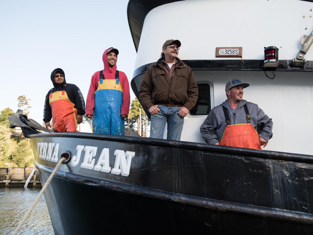 Monterey Fishermen Aboard the Verna Jean
