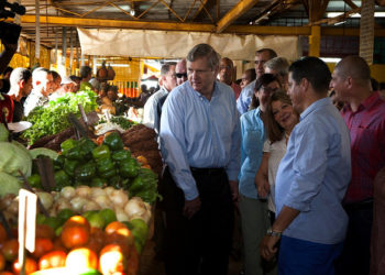 Tom Vilsack at Local Farmers Market