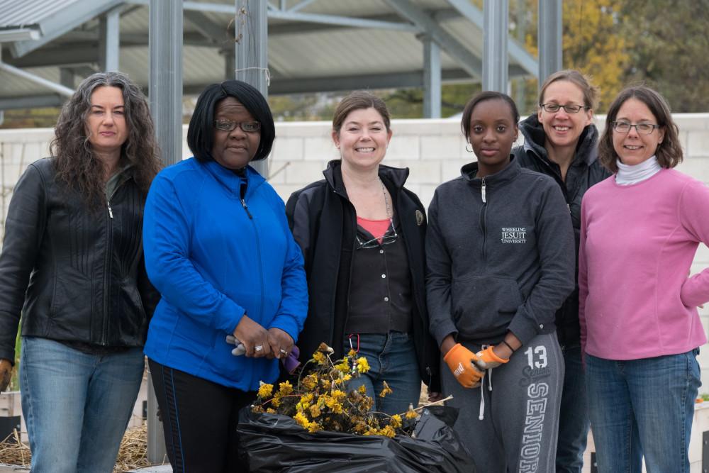 It Takes a Village Organizers Anita Schmaltz, Lutricia Valentine, Mary Tischler, Beth Hagenbuch, Michele Crumb, Zanaria Bevelle