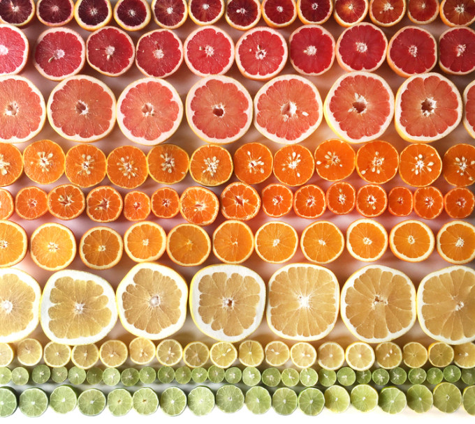 Citrus Gradient by Photographer Brittany Wright