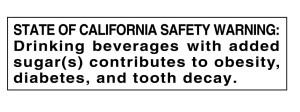 Soda Warning Label Text