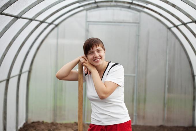 Millennial Greenhouse Worker