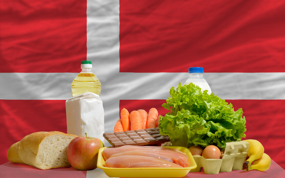 Denmark Flag with Food