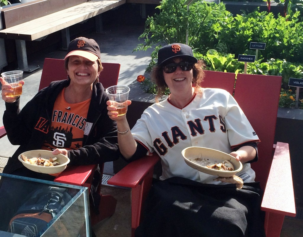 SF Giants Fans Eating in Garden at ATT Park Stadium