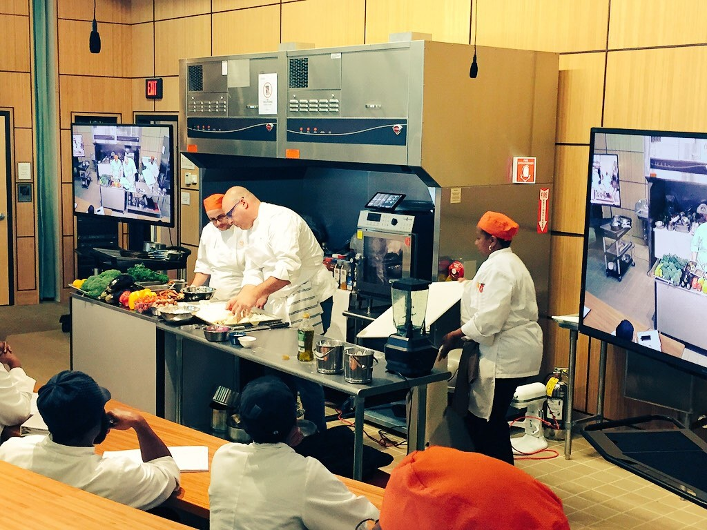 Chef Instructing Trainees at the New England Center for Arts and Technology