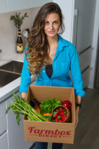 Former SNAP Recipient and Single Mother, Ashley Tyrner with Farmbox Direct