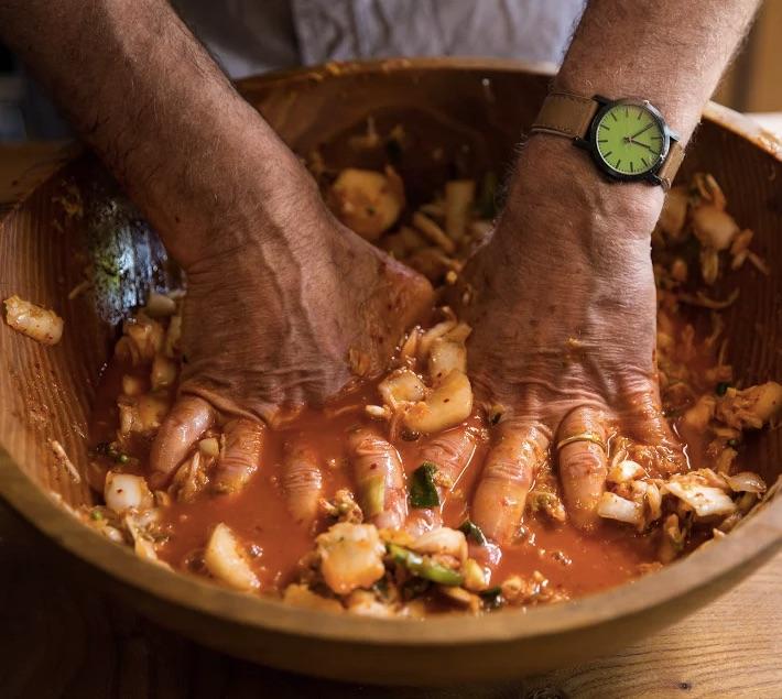 "Michael Pollan Preparing Food in ""Cooked"""