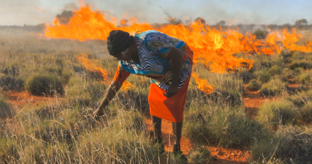 "Woman in a Field on Fire in ""Cooked"""