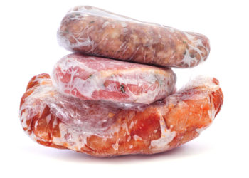 Packaged Frozen Meat