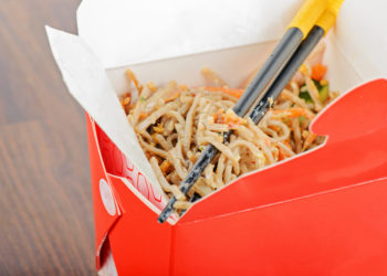 Chinese Food in Takeout Box