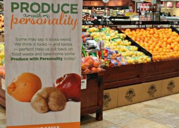 "Giant Eagle Ugly Fruit & Vegetables with ""Produce with Personality"" Sign"