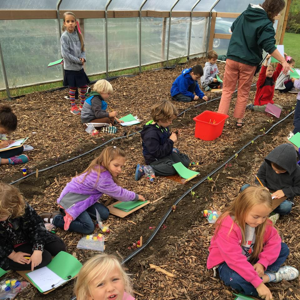 Children Learning in Community Garden