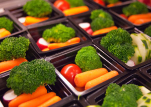 Broccoli, Tomatoes, Carrots, and Cucumbers in Packs