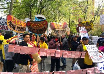 Street Vendor Rally in New York City