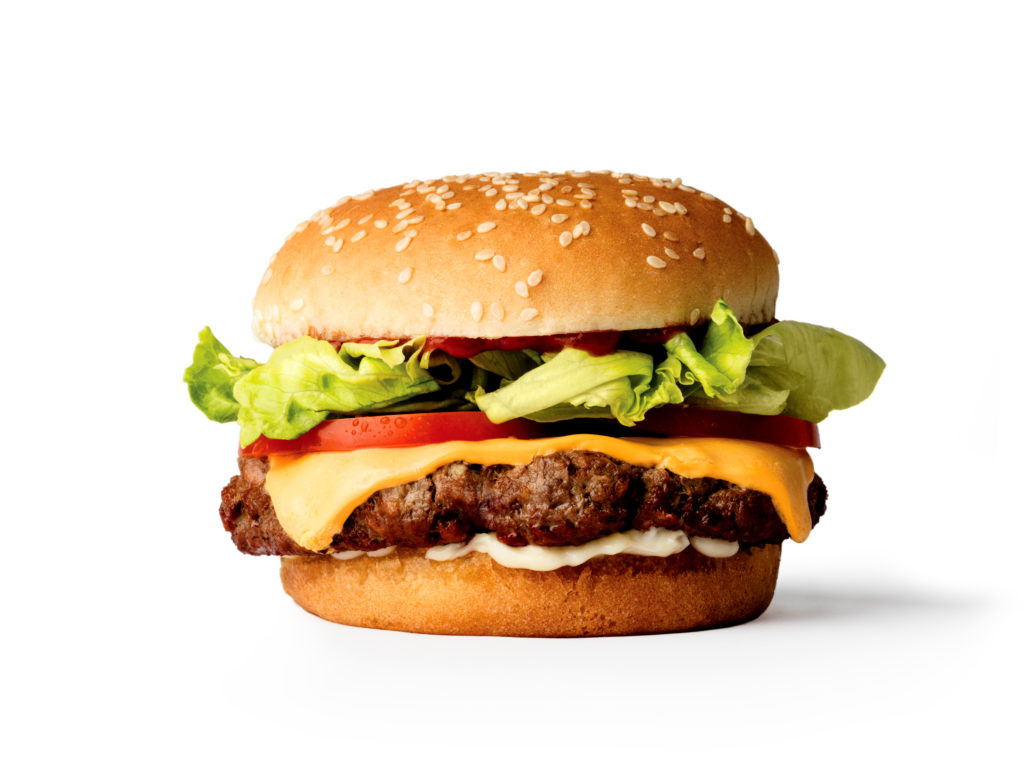 A burger from Impossible Foods.