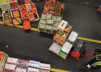 produce on pallets