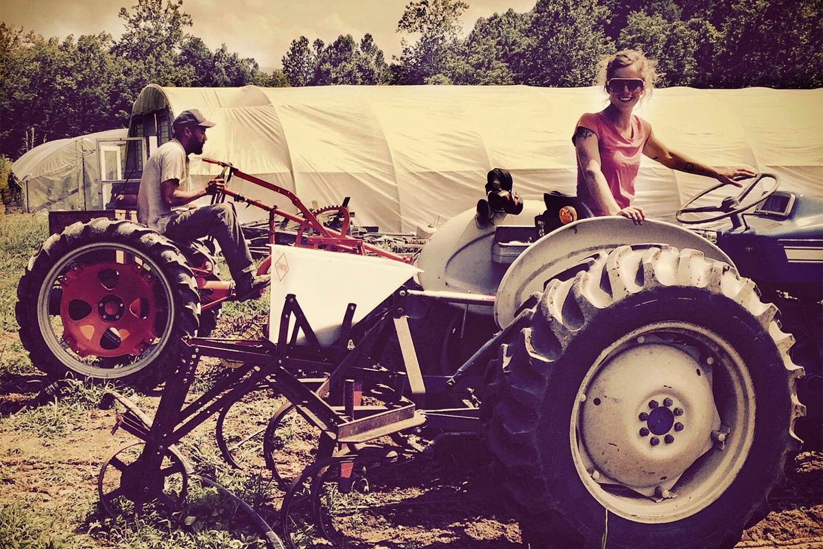 farmers on tractors