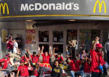 mcdonalds protest