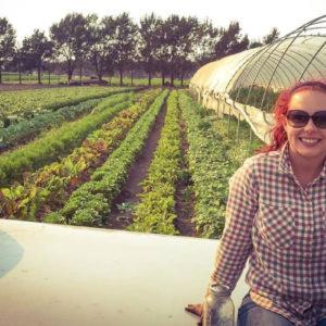 vegan farmer Brittany Loisel