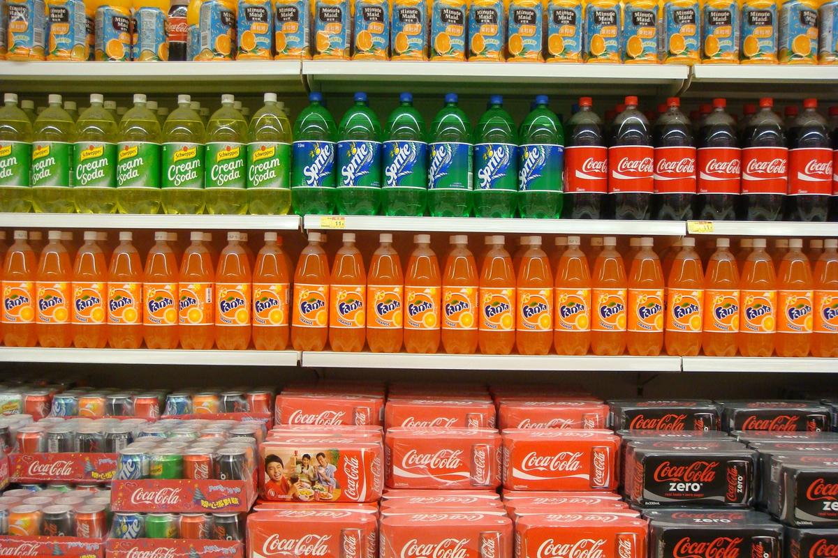 big sugar soda aisle