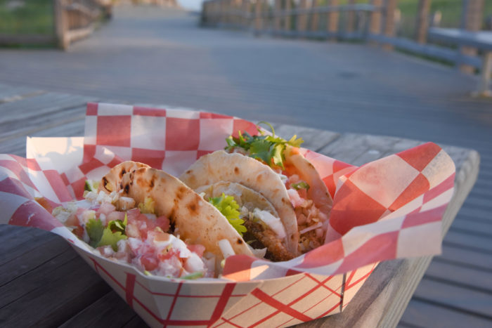 Skate tacos from Farland on the Beach.
