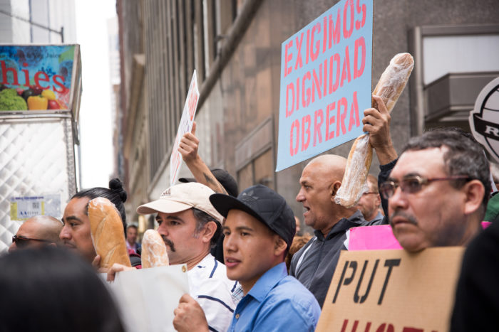 Restaurant worker protest. Photo © Alex Swerdloff