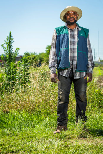 Sarment Louamba, Plant it Forward Farm. (Photo credit: Eric Kayne)