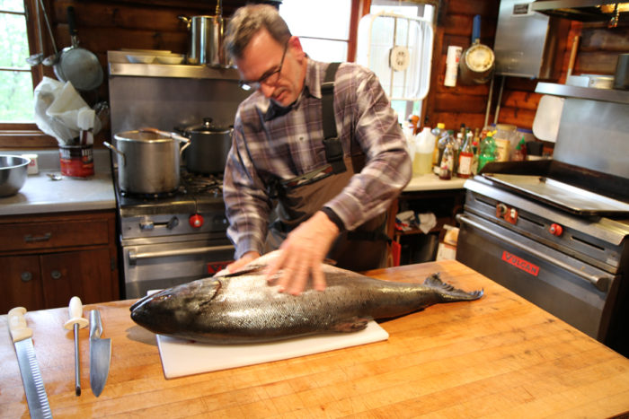 rick moonen cleaning salmon