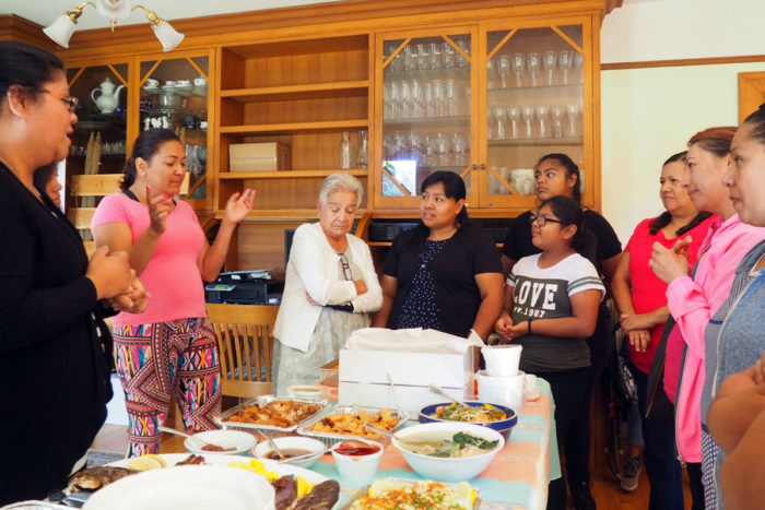 Cooking for Salud! graduates try Filipino food ahead of the launch of its Filipino cooking program