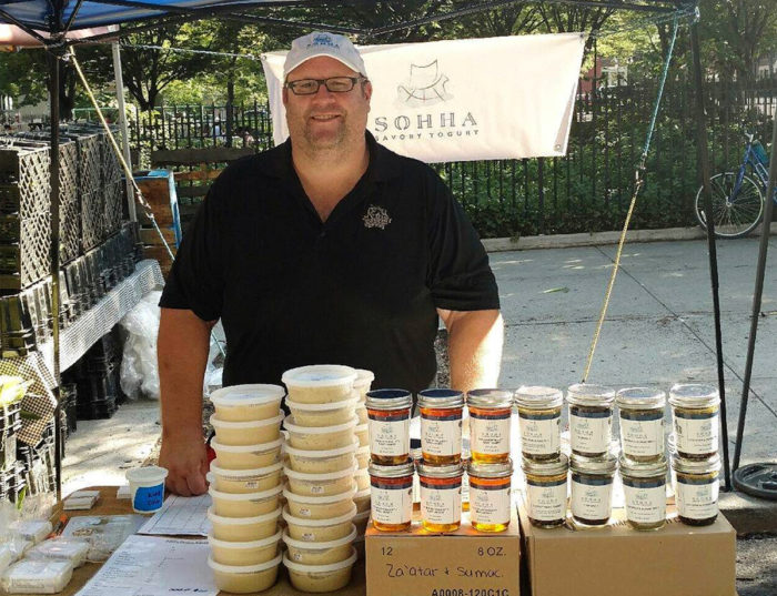 John Fout at the Park Slope farmers' market in Brooklyn. (Photo courtesy Sohha)