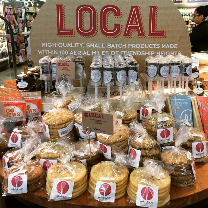 Whisked! goods on display in a Pennsylvania Whole Foods. (Photo courtesy Whisked!)