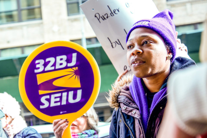 Shantel Walker organizing with SEIU
