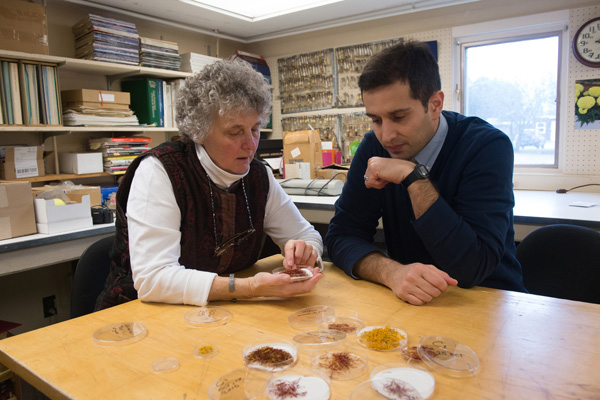 Margaret Skinner and Arash Ghalehgolabbehbahani. (Photo courtesy of Sally McCay, University of Vermont)