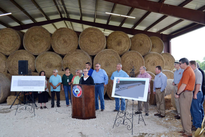 The Quapaw tribe dedicating their meat-processing facility. (Photo courtesy of the Quapaw tribe)