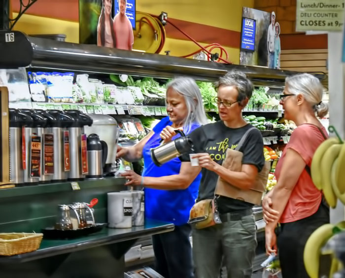 Coffee time at Ithaca's Green Star Co-op. (Photo credit: Joeyz51)