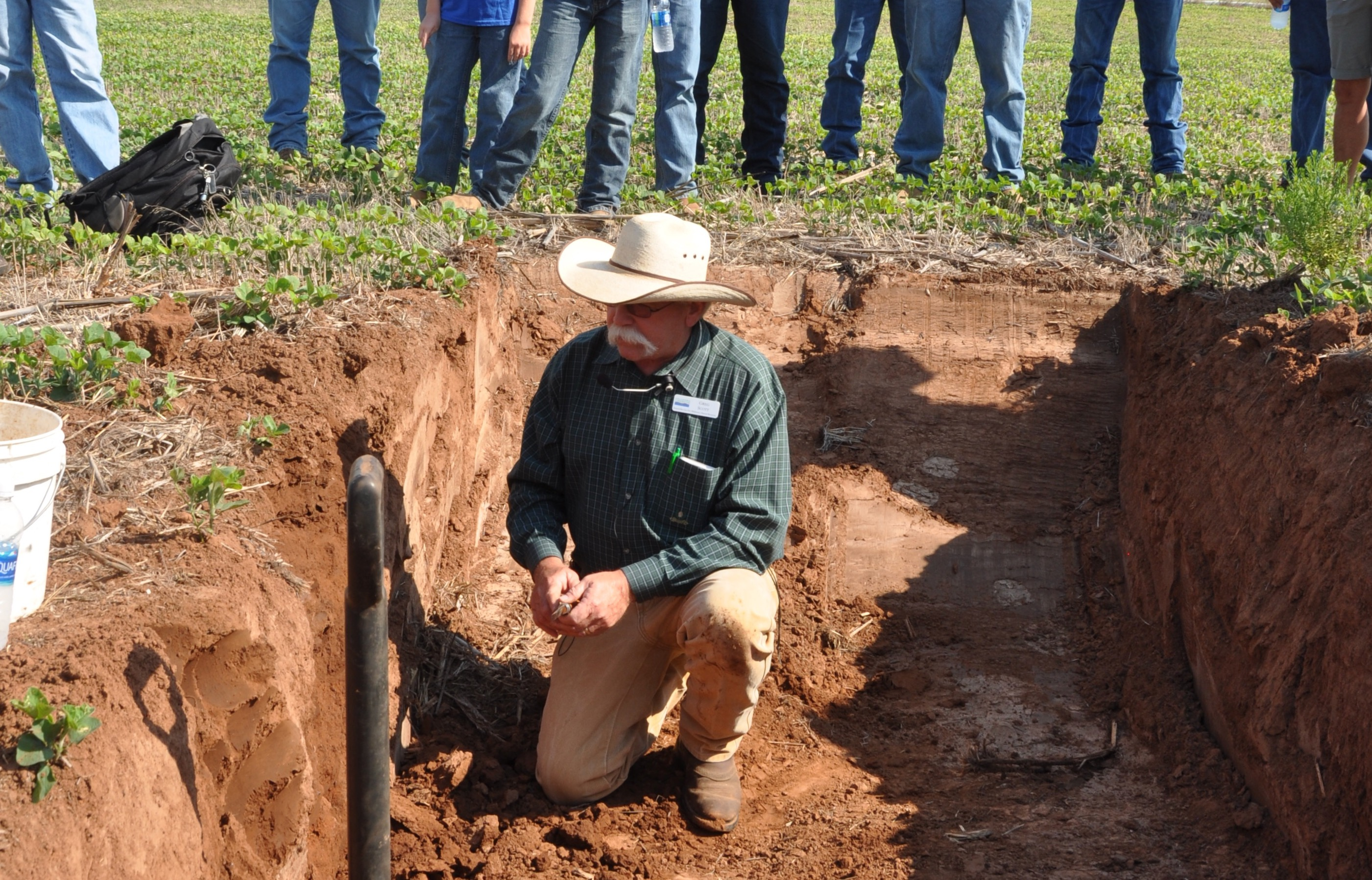 no-till farming demonstration