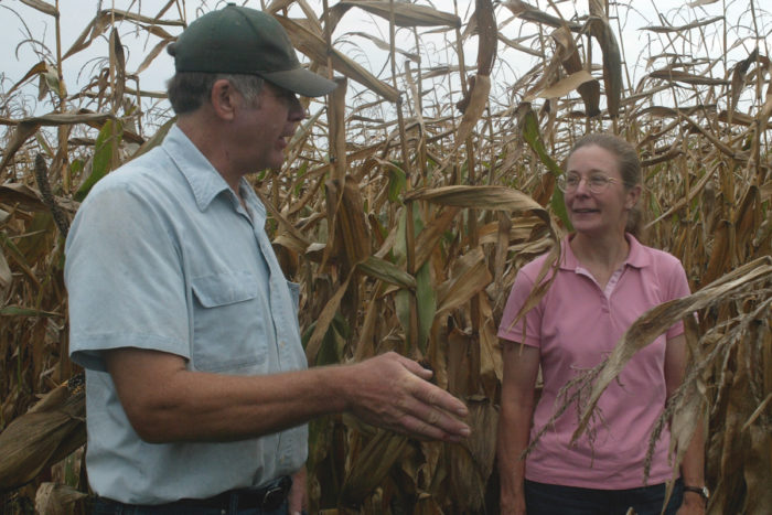 Klaas Martens (left) with Margaret Smith, professor of plant breeding at Cornell University.