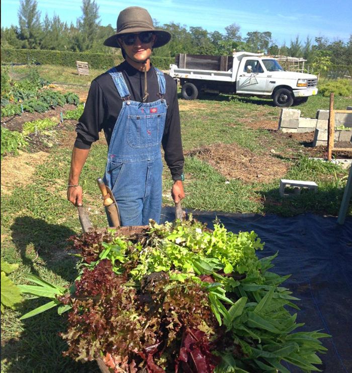 Moses Kashem of St. Simons Farm. (Photo courtesy of The Urban Vegetable Project)
