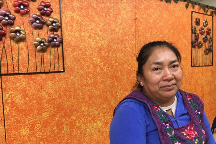 Rosa Hernandez, co-owner of Colectivo Sabor a Mi Tierra. (Photo credit: Lisa Morehouse)