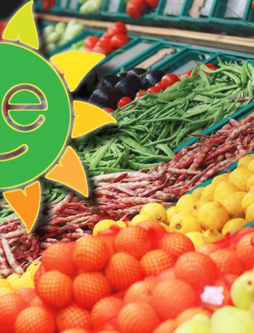 gmo labeling symbol and fresh produce