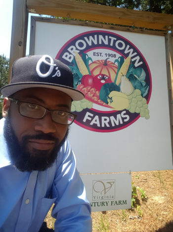 Heber Brown outside Browntown Farms. (Photo courtesy BCFSN)