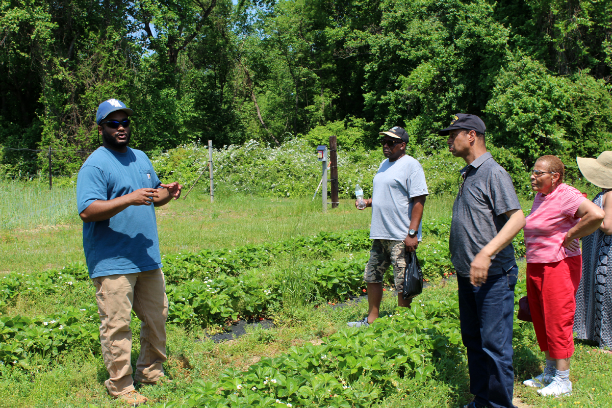 Pleasant Hope congregants at a tour of Browntown Farms in Warfield, Virginia.